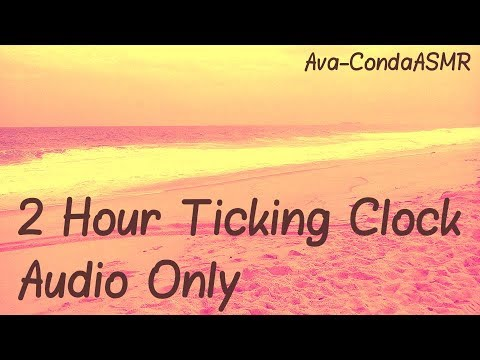 [ASMR] 2 Hour Audio Only-Ambient Clock Sounds-Ticking (No Talking-Sem Falando)