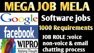 Jobs in Wipro, facebook, google, uber, Mega Job Mela in Hyderbad   latest jobs   fresher jobs