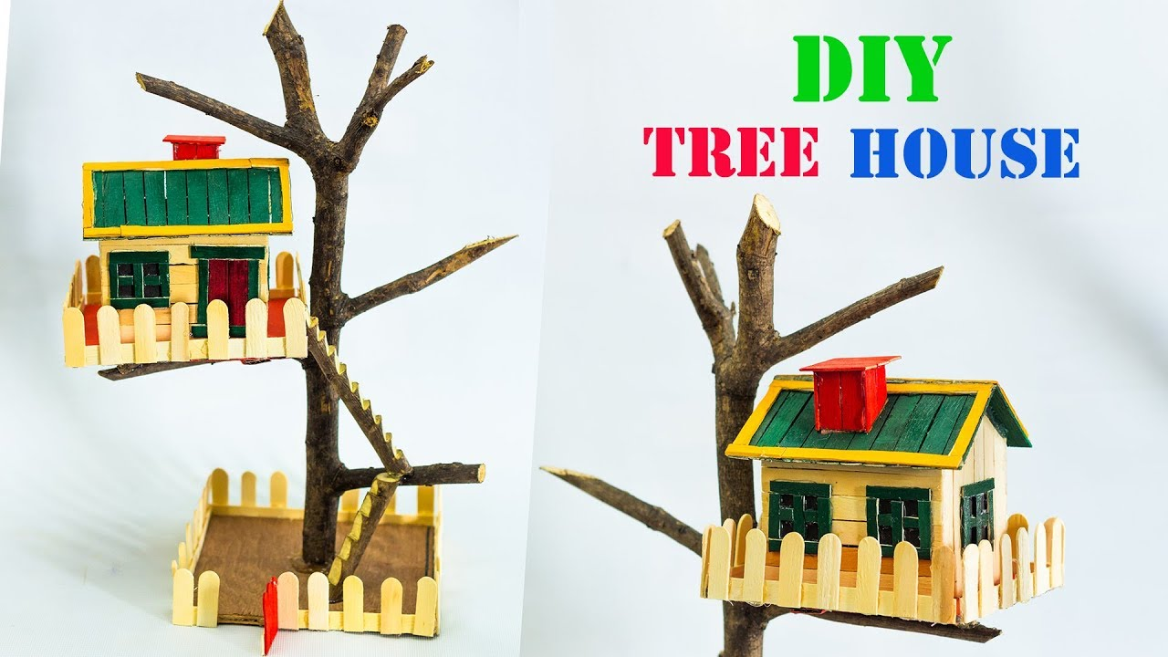 Diy tree house model youtube for How to build a treehouse with sticks