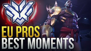 BEST PRO PLAYS FROM EUROPE - Overwatch Montage