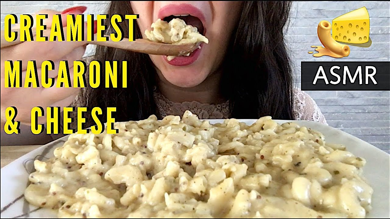 Asmr Best Creamiest Mac Cheese Eating Show Mukbang Soft Eating Sounds Asmr Eats
