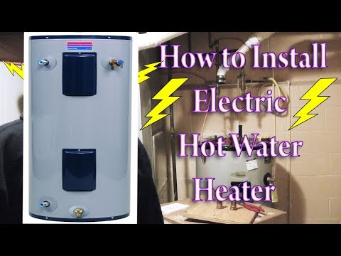 Electric Hot water Heater installation