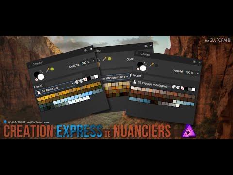 Création Express de Nuanciers sous Affinity Photo (gratuit !)
