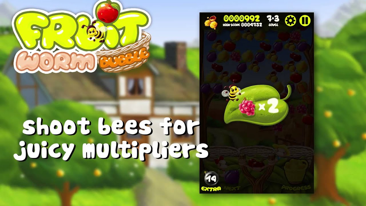 Bubble fruits game - Fruit Worm Bubble Fruitastic Game For Android