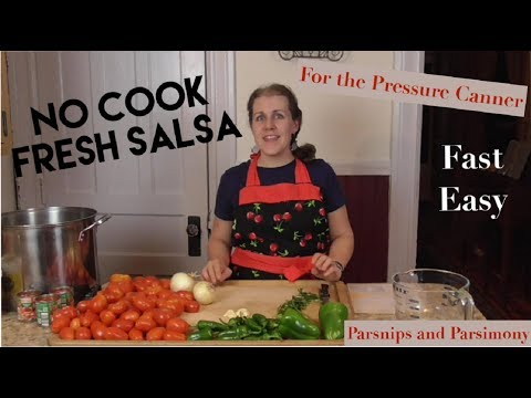 No-Cook Garden Salsa (For Pressure Canning)
