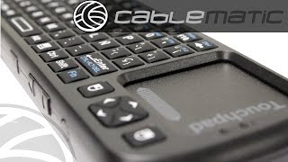 Teclado mini inalámbrico Bluetooth para smartTV y teléfono móvil distribuido por CABLEMATIC ®