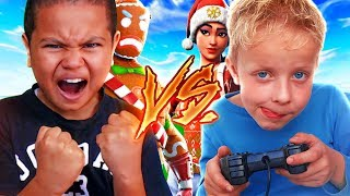 1V1 10 YEAR OLD BROTHER VS TRASH TALKER! INSANE $1000 WAGER! (not clickbait) FORTNITE BATTLE ROAYLE!
