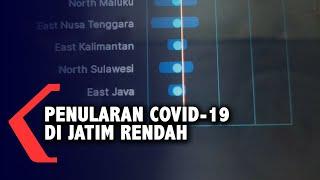 Tingkat Penularan Covid-19 di Provinsi Jawa Timur Terendah