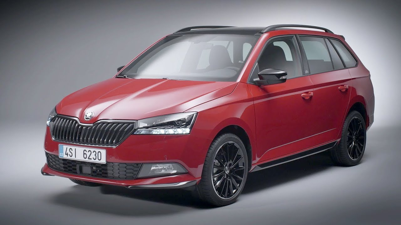 the new skoda fabia combi monte carlo 2018 facelift exterior youtube. Black Bedroom Furniture Sets. Home Design Ideas