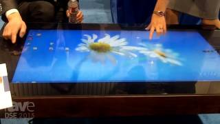 DSE 2015: DualCool Shows Off Waterproof LCD Touch Table as a Coffee Table
