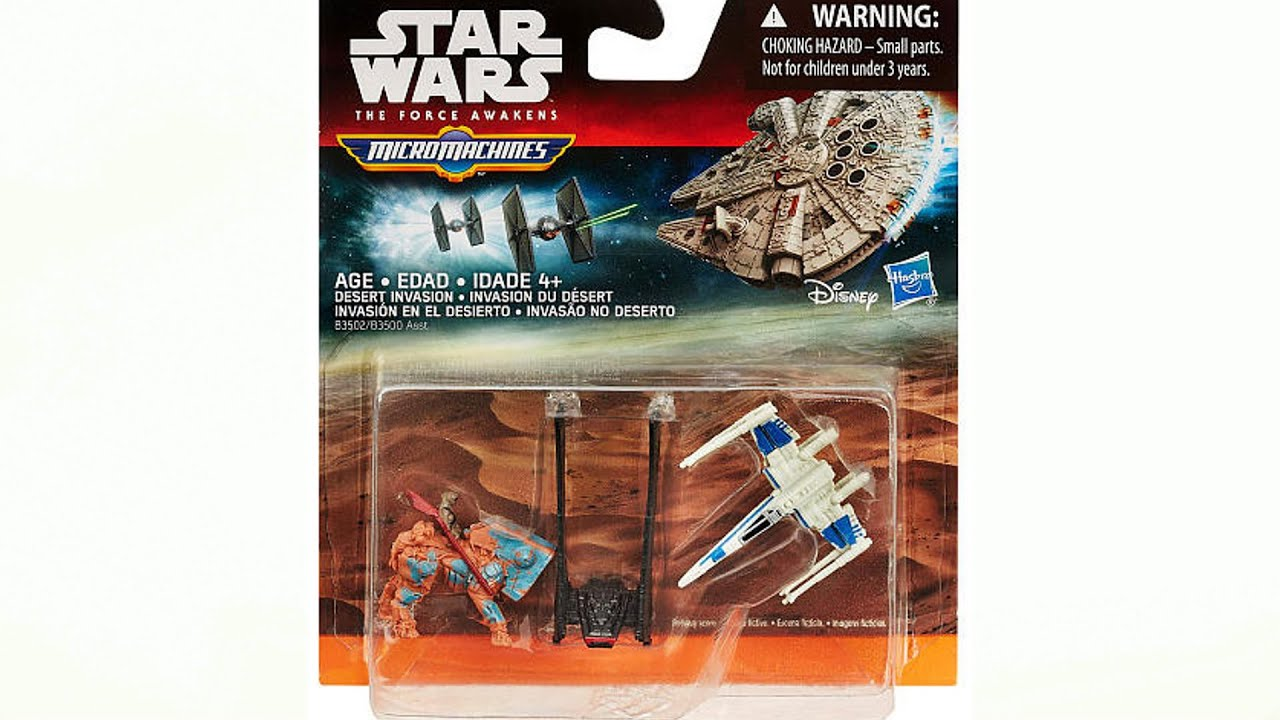 star wars vii jouets micro machines youtube. Black Bedroom Furniture Sets. Home Design Ideas