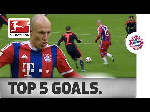 Arjen Robben - Top 5 Goals 2014/15