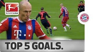 Arjen Robben - Top 5 Goals 2014/15