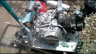 Modifikasi Mesin Motor Jadi SREKEL Pemotong Bata Putih