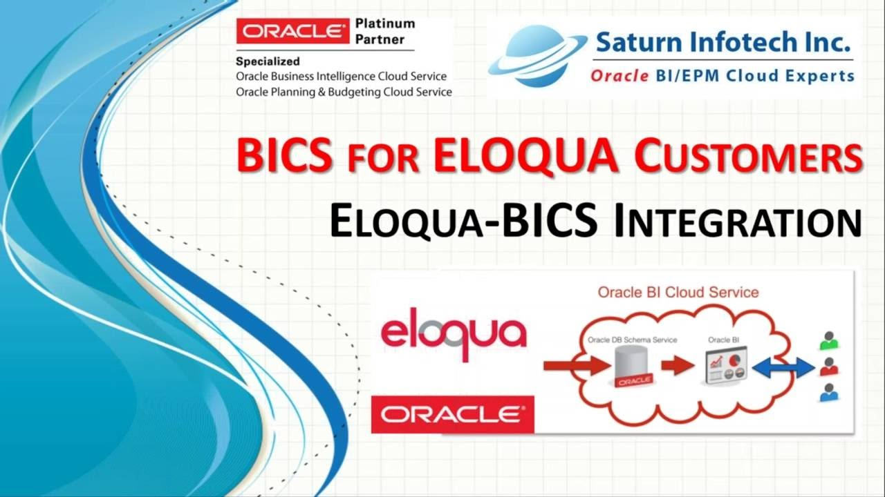Oracle Bics For Eloqua Users Youtube