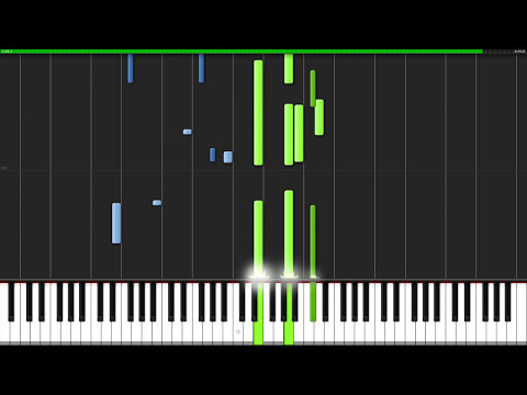 Time to Say Goode Con te partirò Piano Tutorial Synthesia  Wouter van Wijhe