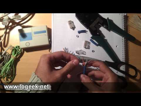 Cómo fabricar y/o reparar cables de RED ethernet - www.logeek.net