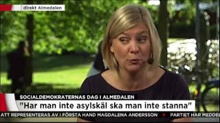 Socialdemokraternas dag i Almedalen - Vi har träffat Magdalena Andersson - Nyheterna (TV4)