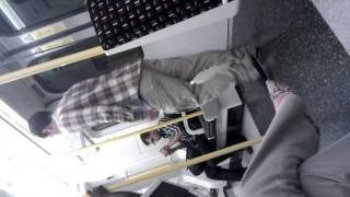 Guy desperate for a pee on the tube