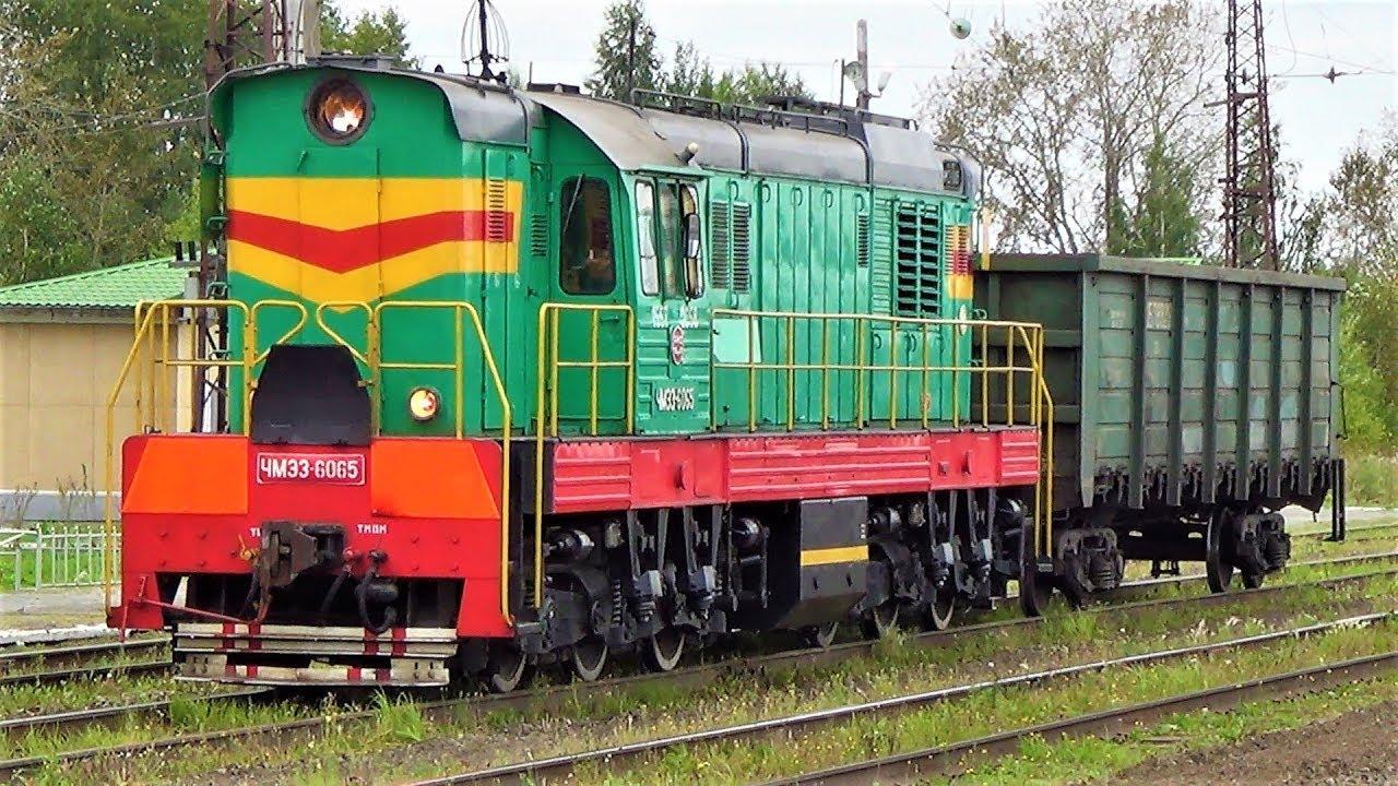 смотрим поезда электрички маневровый тепловоз и грузовой поезд видео про поезда для детей
