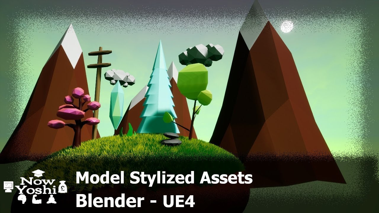 Tutorial - Low poly stylized assets - Blender to Unreal