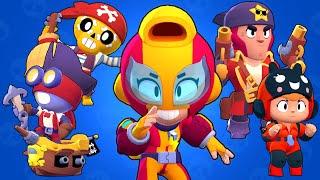 Brawl Stars All New  Characters - Max, Bea, Pirate Poco, Captain Carl and Corsair Colt