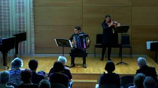 """Like swans leaving the lake"", Y. TAKAHASHI (Maite Colás, viola & Iñigo Mikeleiz, accordion)"