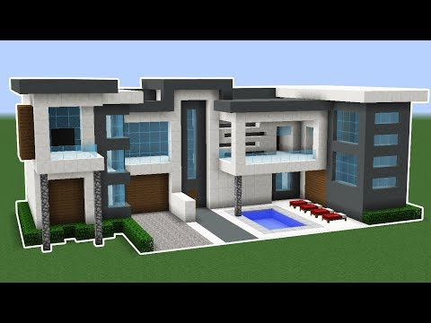 Minecraft: How To Make A Modern House In 10 Minutes TUTORIAL!