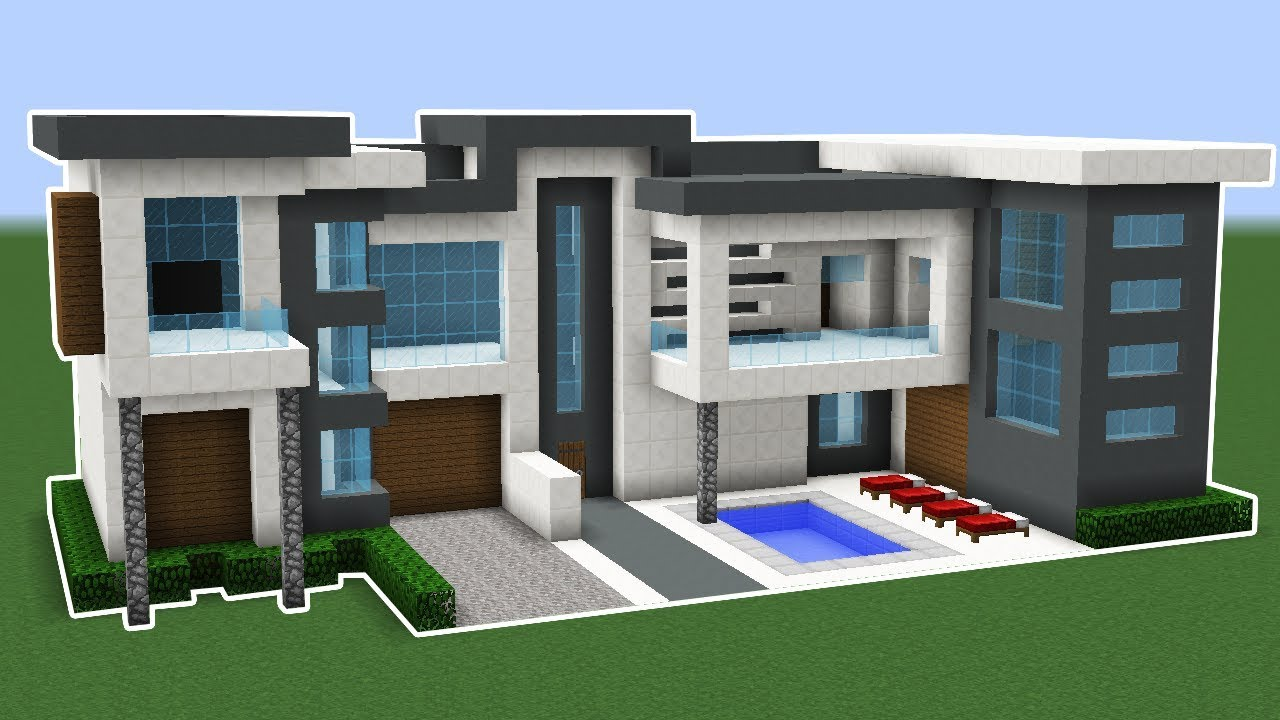 Minecraft How To Make A Modern House In 10 Minutes TUTORIAL