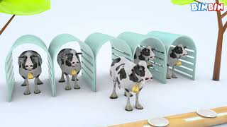 Learn Color With Fruit 3D Cows For Kids