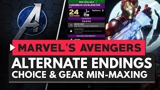 MARVEL'S AVENGERS | Alternate Endings, Player Choice & Gear Min-Maxing