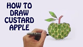 How to draw custurd apple