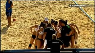 Beach Handball: Brasil x Hungria - World Games 2013 Final - TV Esporte Interativo