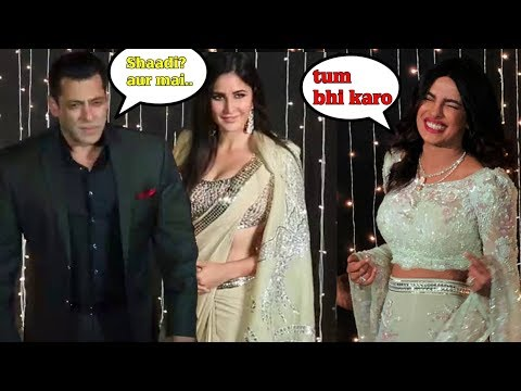 SALMAN KHAN Teased For Shaadi WIth KATRINA @ priyanka nick reception