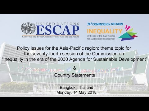 CS 74: Policy issues for the Asia-Pacific region & Country Statements