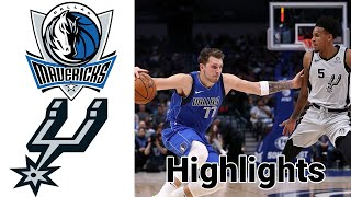 Mavericks vs Spurs HIGHLIGHTS Full Game | NBA January 22