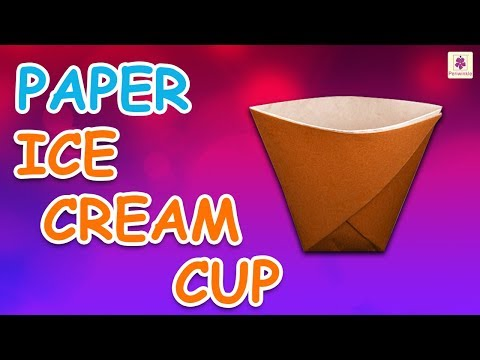 Origami Ice Cream Cup   DIY Beautiful Paper Ice Cream Cup For Kids   Periwinkle