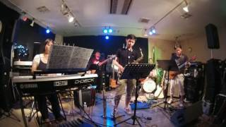 "It is a performance at live studio ""Morita"". Members of the band al..."