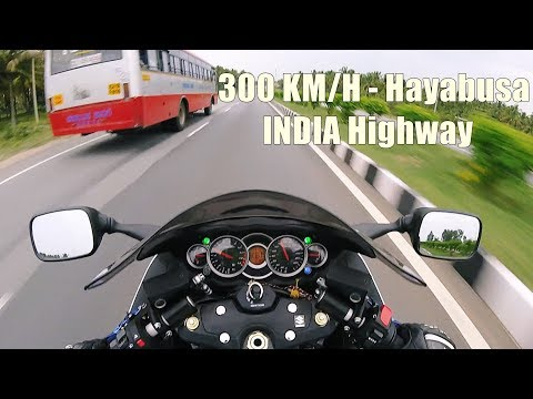 300 km/h Suzuki Hayabusa on INDIAN Highway - Part 1