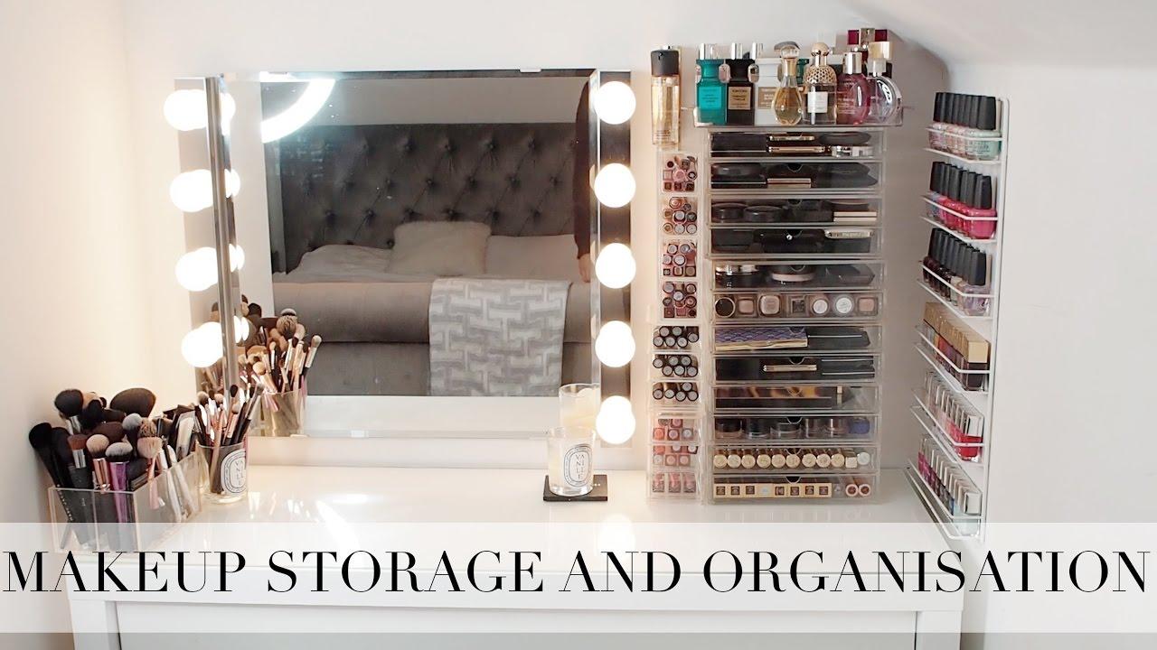 Design Makeup Storage my makeup storage and organisation tamara kalinic youtube kalinic