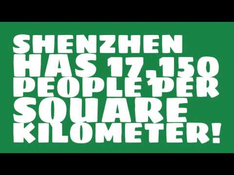 What is the land area of Shenzhen?