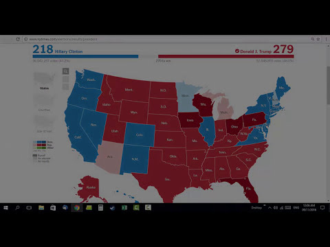 2016 Presidential Elections Timelapse [USA] Clinton Vs Trump