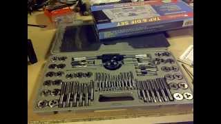 60 Piece Alloy Steel SAE/Metric Tap And Die Set 01