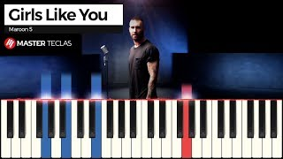 💎 Girls Like You - Maroon 5 | Piano Tutorial 💎