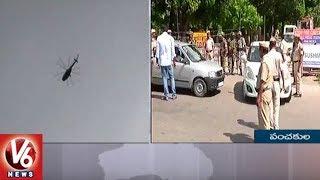 Gurmeet ram rahim sentenced: tight security in panchkula | v6 news