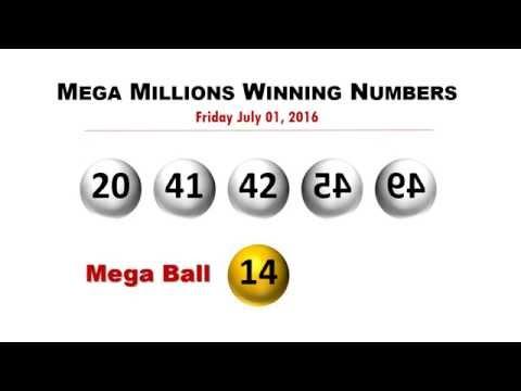 Mega Millions Winning numbers for Friday 7/1/2016; jackpot now worth $449 million