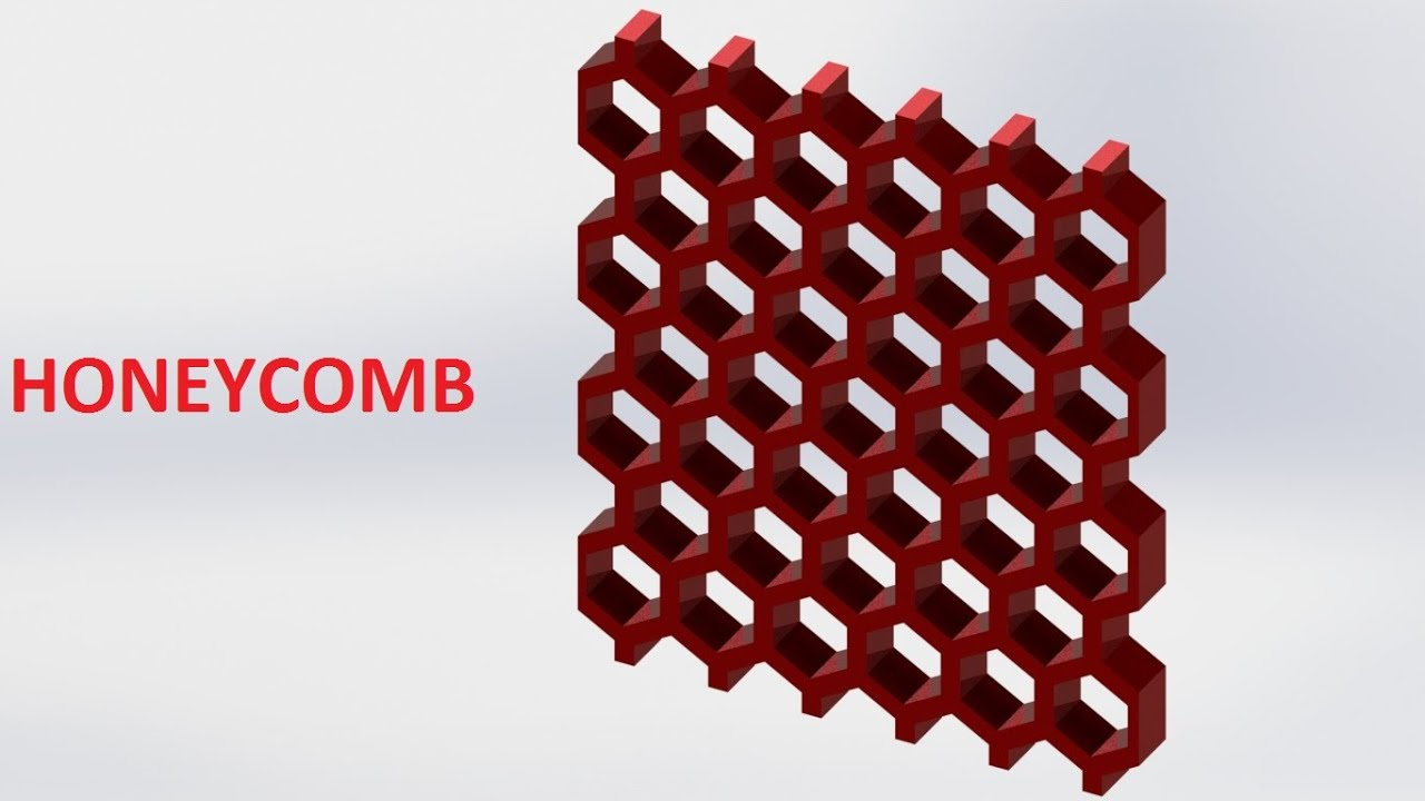 Solidworks Tutorial Honeycomb Youtube