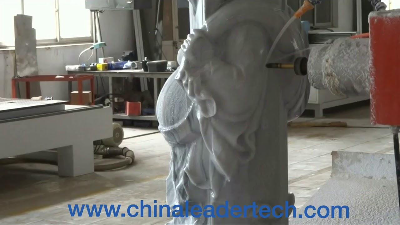 4D Stone Statue Carving Machine, Kuwait 4 Axis CNC Marble Engraving  Machines Qatar Dubai