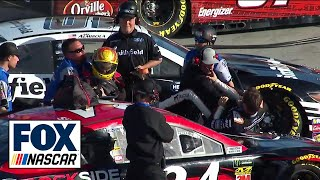 Daniel Suarez and Michael McDowell fight during Monster Energy Cup qualifying | NASCAR on FOX