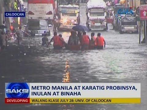 Saksi: Metro Manila at karatig probinsya, inulan at binaha